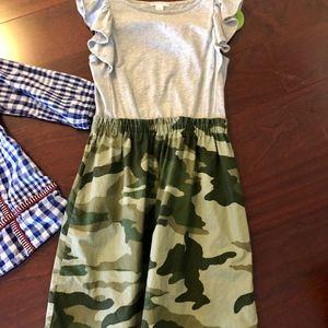 Crewcuts Camouflauge Play Dress size 8